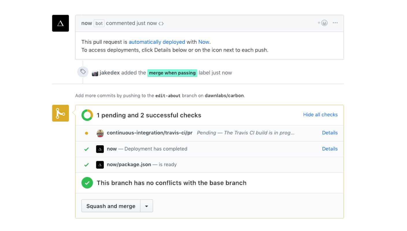 Auto merge your pull requests